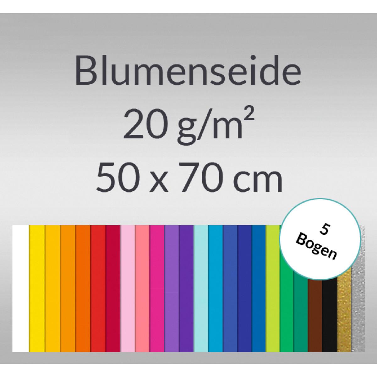 Blumenseide 20 g/qm 50 x 70 cm - 5 Bogen