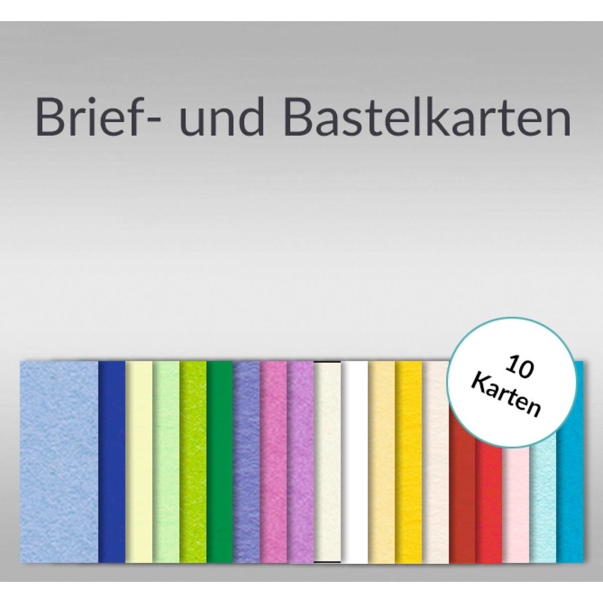Brief Und Bastelkarten Din Lang Hochdoppelt 10 Karten