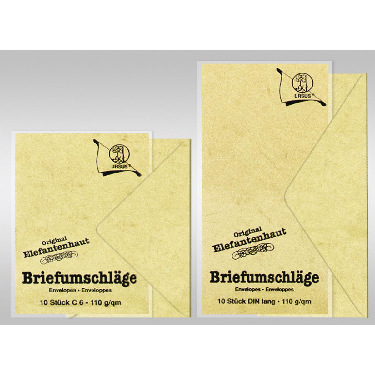 FARBWAHL URSUS Briefkarten farbig einfach DIN lang 10 Stück