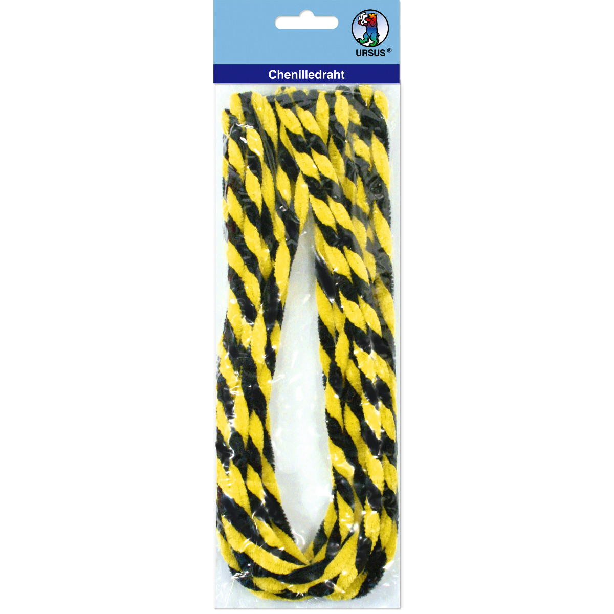 Chenilledraht 9 mm schwarz/gelb