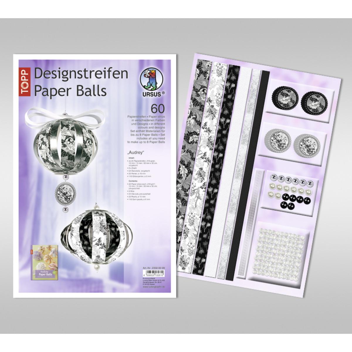 """Designstreifen Paper Balls """"Audrey"""""""