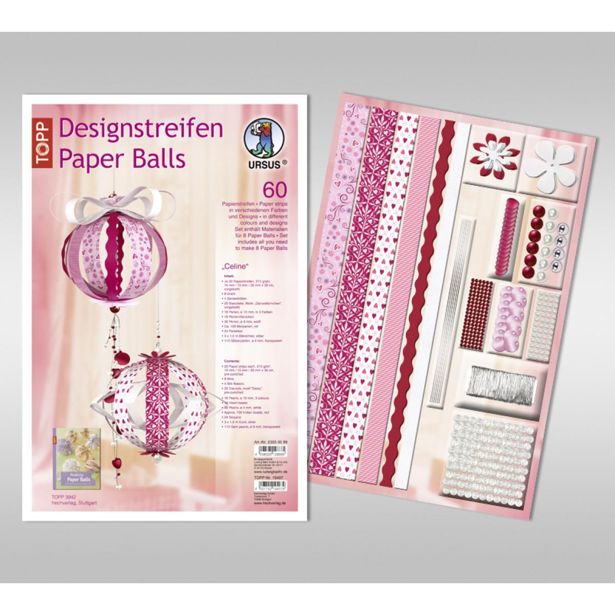 """Designstreifen Paper Balls """"Celine"""""""