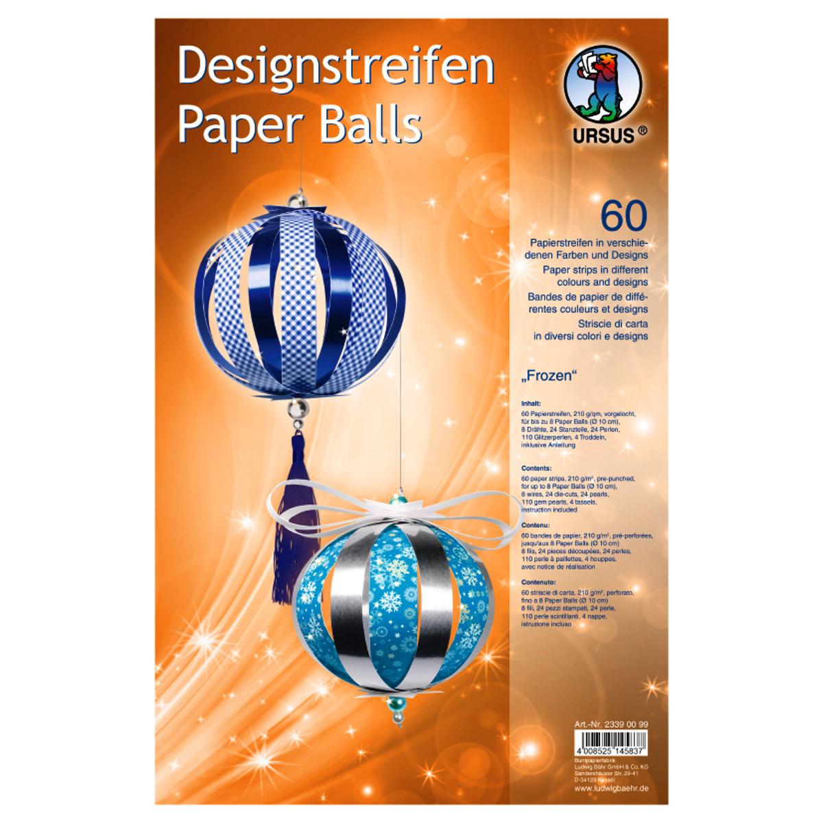 """Designstreifen Paper Balls """"Frozen"""""""