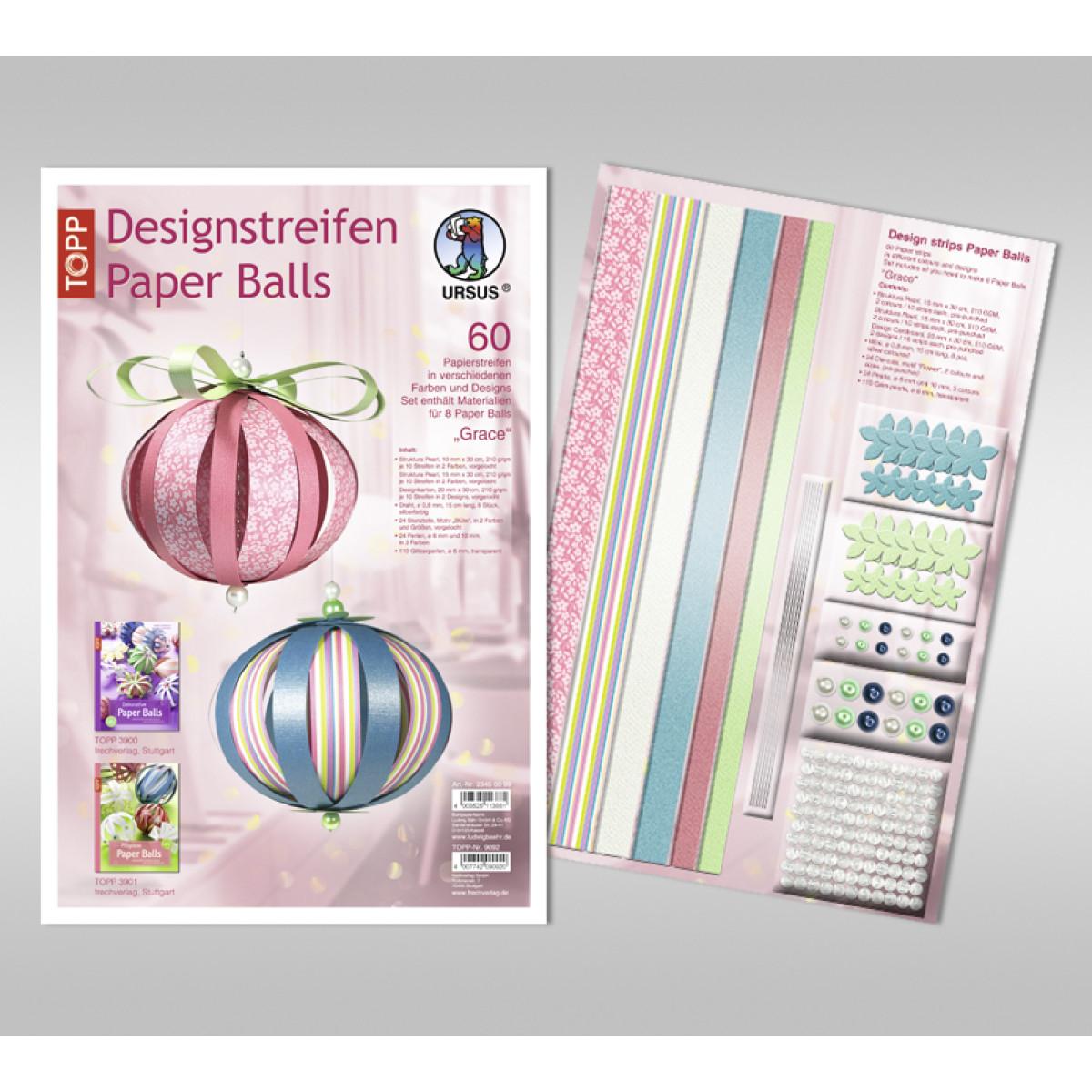 "Designstreifen Paper Balls ""Grace"""