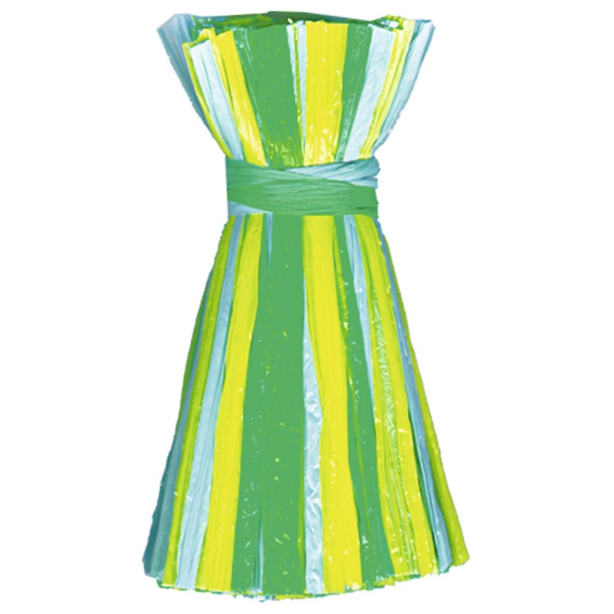 "Edelbast matt ""multicolor"" gelb/blau/grün - 30 Meter"