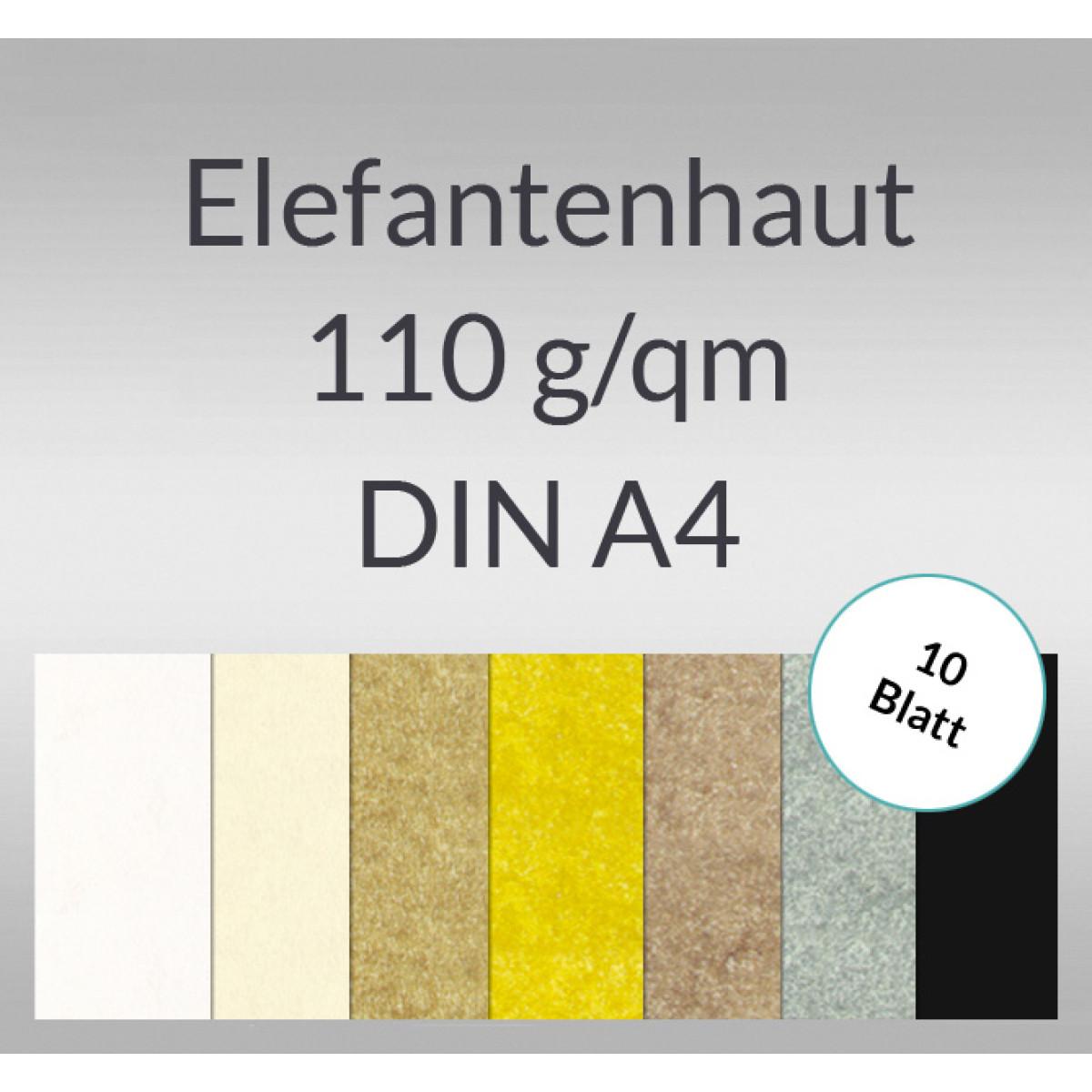 Elefantenhaut 110 g/qm DIN A4 - 10 Blatt