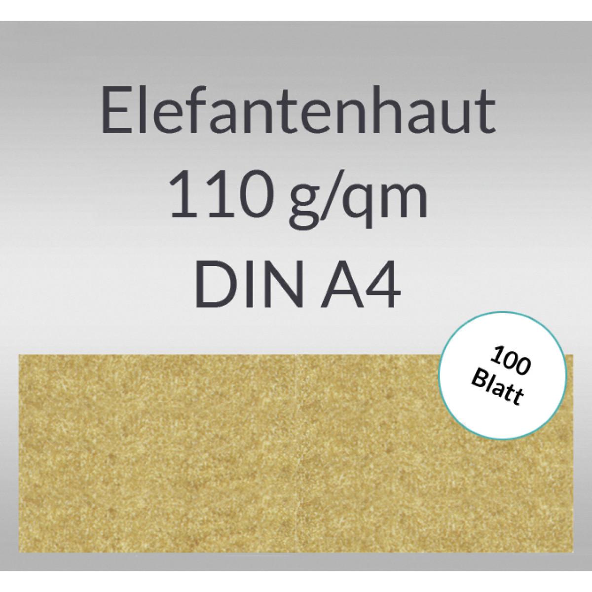 Elefantenhaut 110 g/qm DIN A4 chamois - 100 Blatt