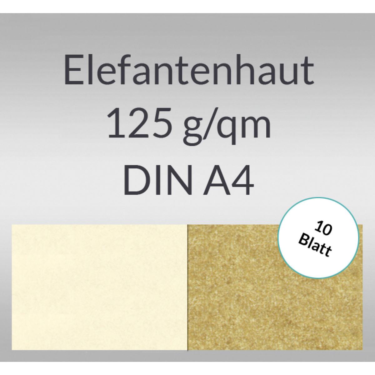 Elefantenhaut 125 g/qm DIN A4 - 10 Blatt
