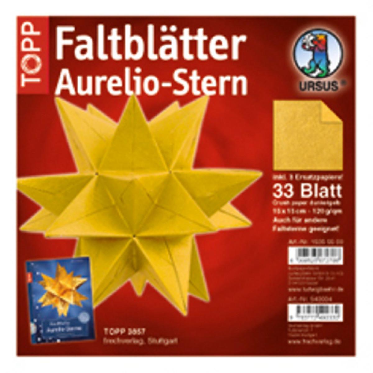 Faltblätter Aurelio Stern Crush Paper Dunkelgelb 15 X 15 Cm