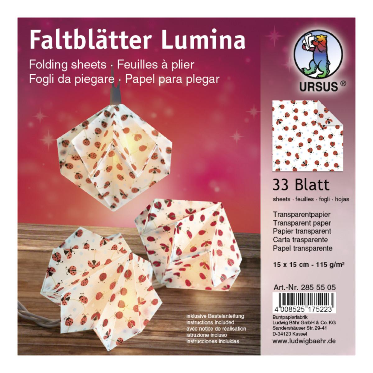 """Faltstreifen """"Lumina"""" Glückskäfer Motiv 2"""