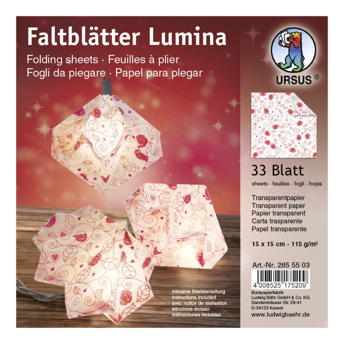 """Faltstreifen """"Lumina"""" Poesie Motiv 1"""