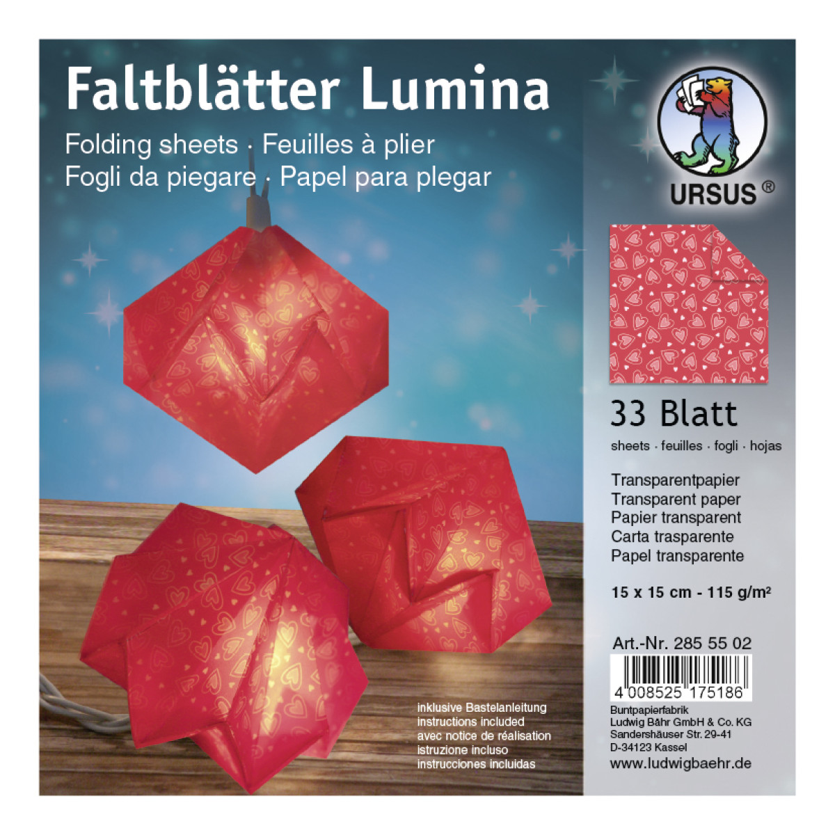 """Faltstreifen """"Lumina"""" Poesie Motiv 2"""