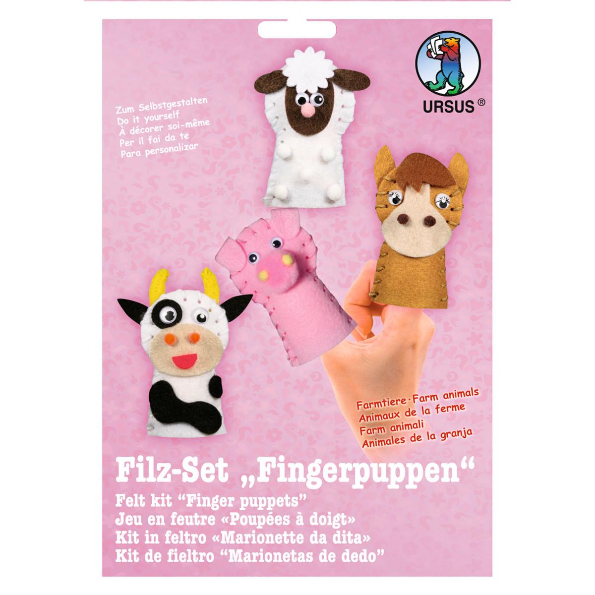 "Filz-Set ""Fingerpuppen"" Farmtiere"