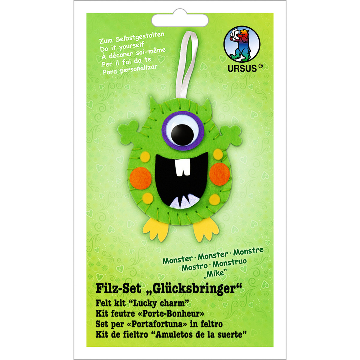 "Filz-Set ""Glücksbringer"" Monster Mike"