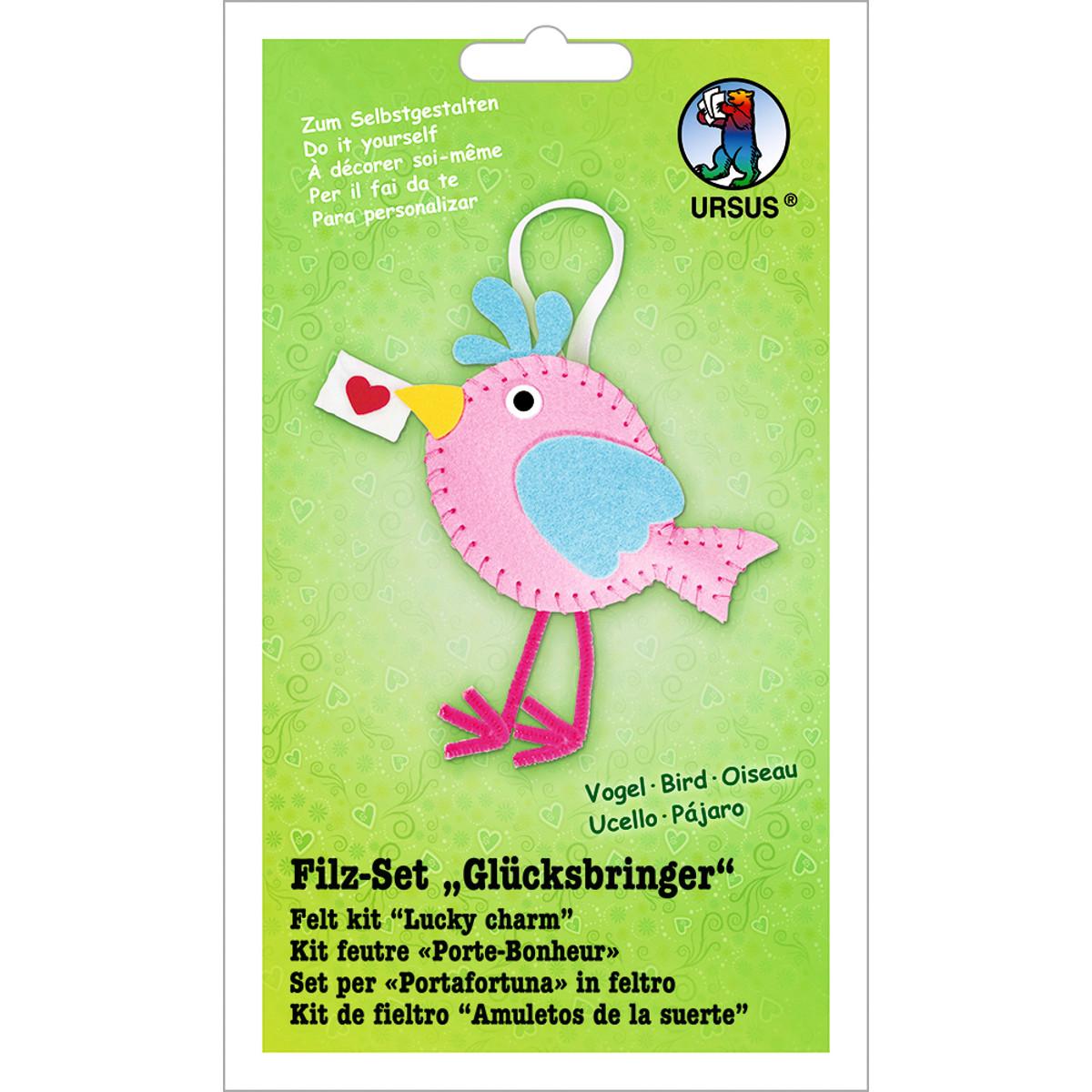 """Filz-Set """"Glücksbringer"""" Vogel"""