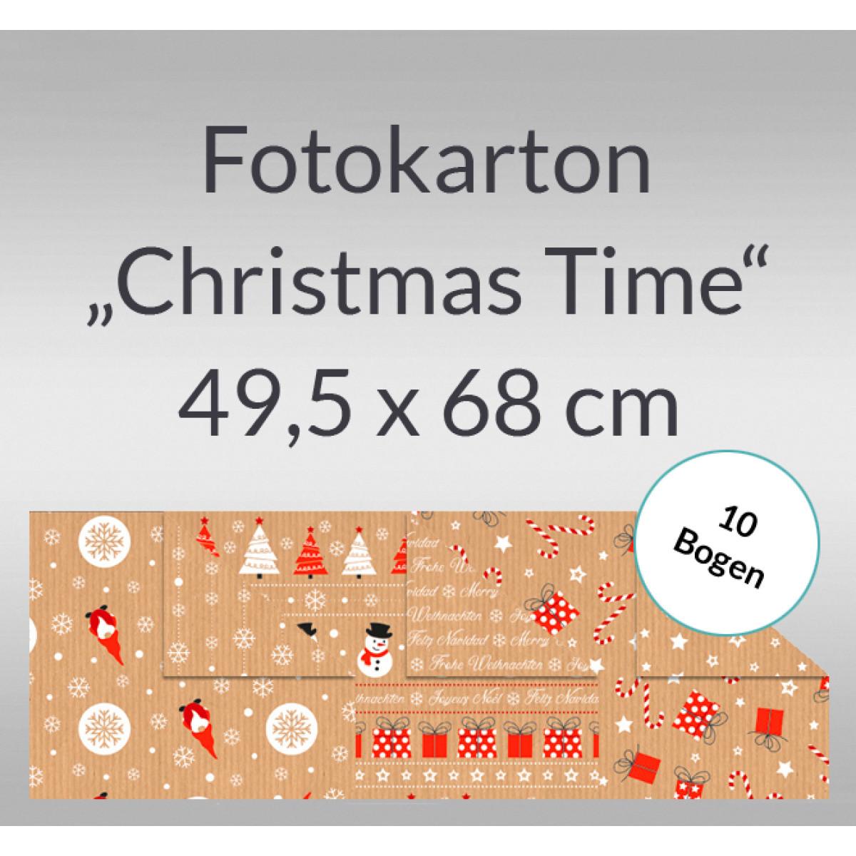 "Fotokarton ""Christmas Time"" 49,5 x 68 cm - 10 Bogen"
