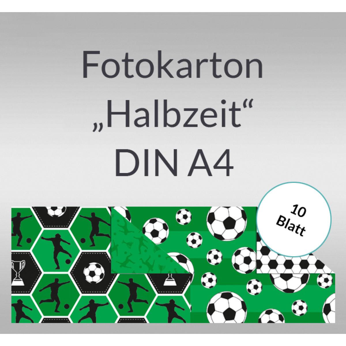 "Fotokarton ""Halbzeit"" DIN A4 - 10 Blatt"