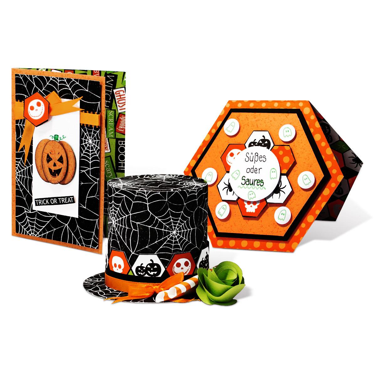 Fotokarton Happy Halloween Din A4 10 Blatt Motiv 01