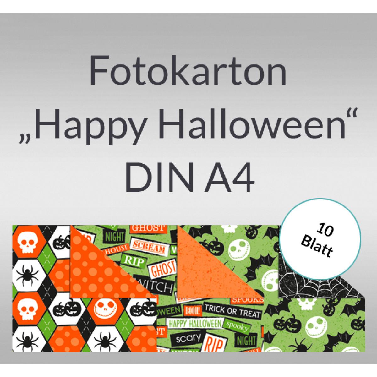 Fotokarton Happy Halloween Din A4 10 Blatt