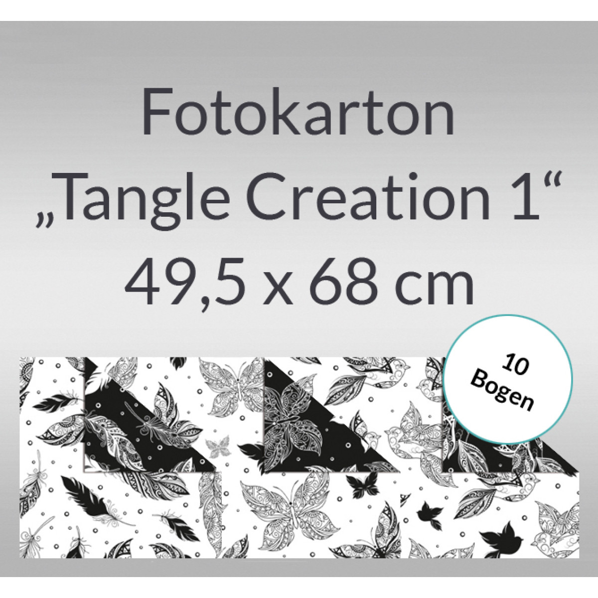 "Fotokarton ""Tangle Creation 1"" 49,5 x 68 cm - 10 Bogen"