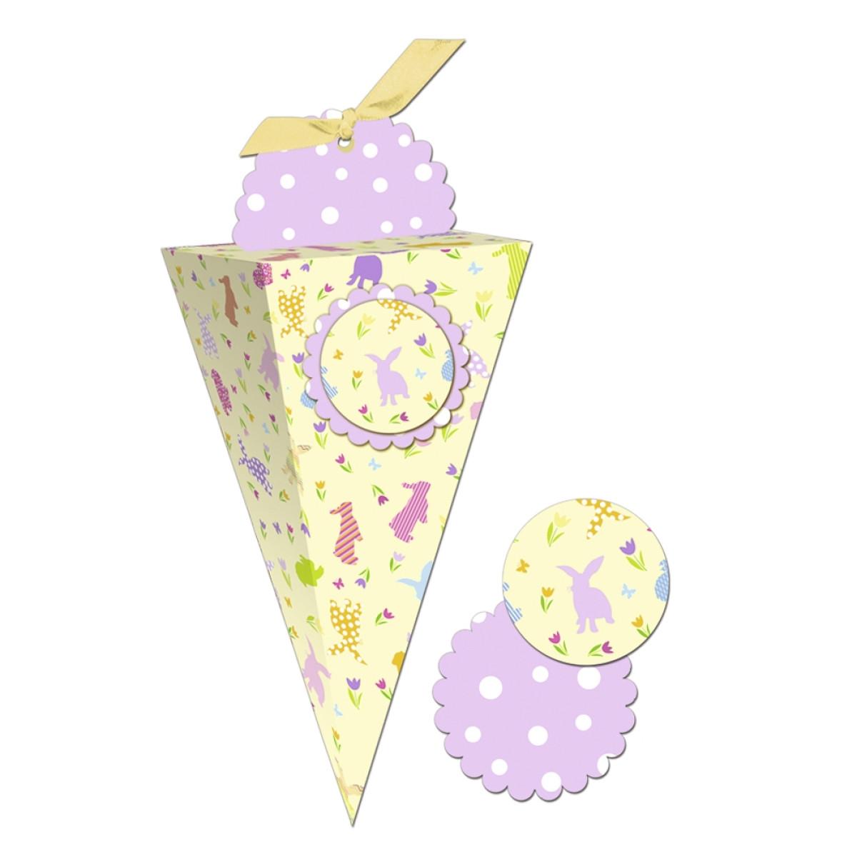 """Geschenkbox """"Chiara"""" Ostern hellgelb"""