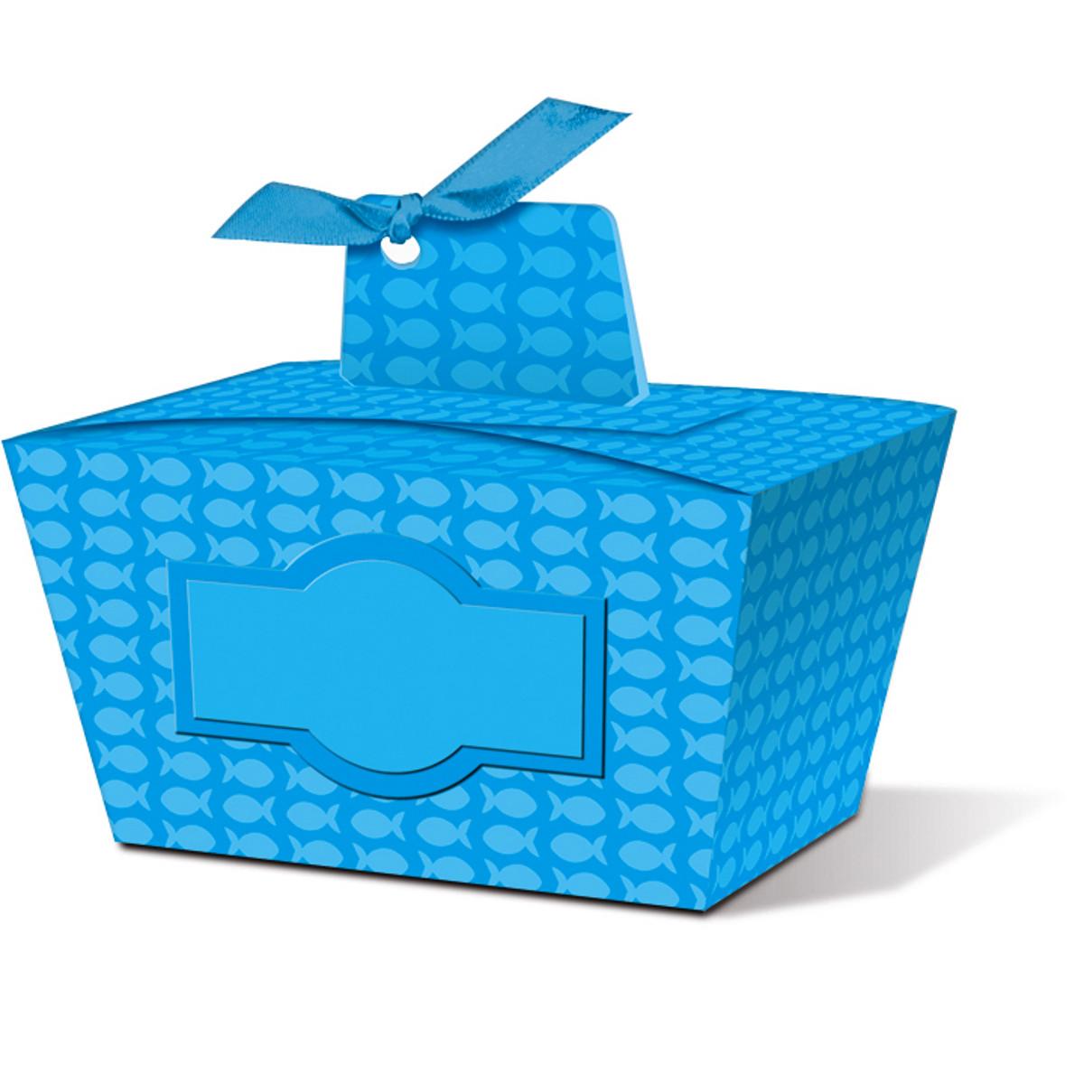 """Geschenkbox """"Joelle"""" blau - Motiv 01"""