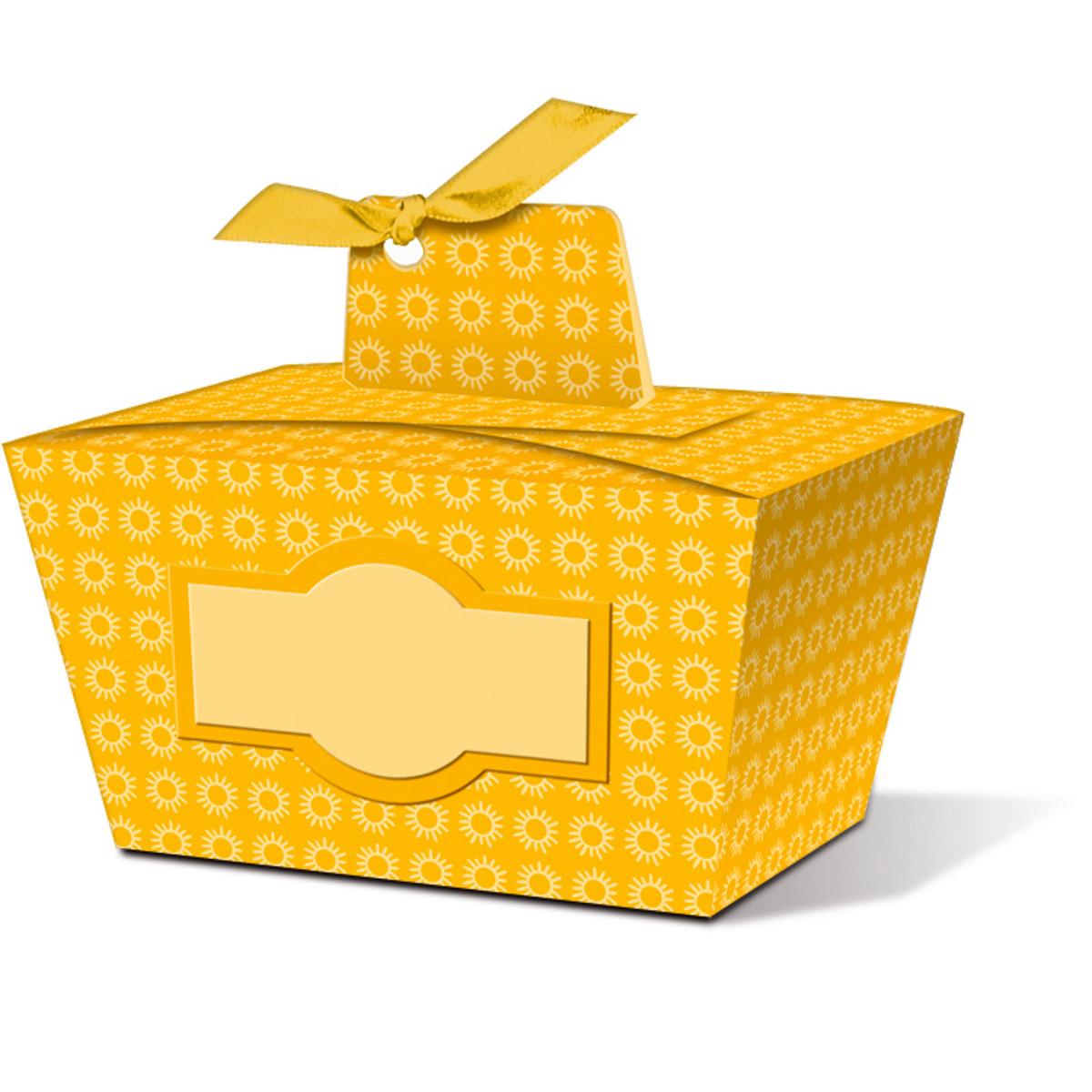 """Geschenkbox """"Joelle"""" gelb - Motiv 04"""