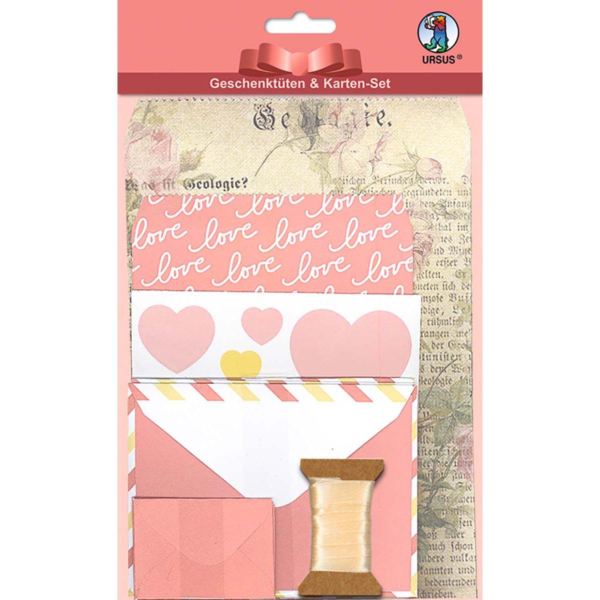"Geschenktüten-Karten-Set ""Romance"""
