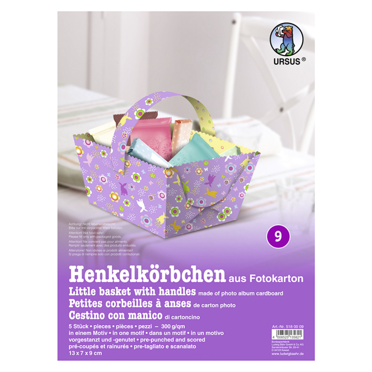 "Henkelkörbchen ""Ostern"" lila"