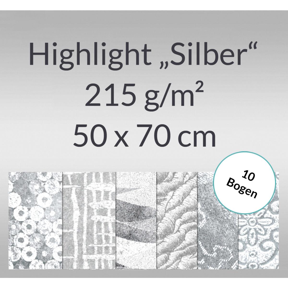 """Highlight """"Silber"""" 50 x 70 cm - 10 Bogen"""