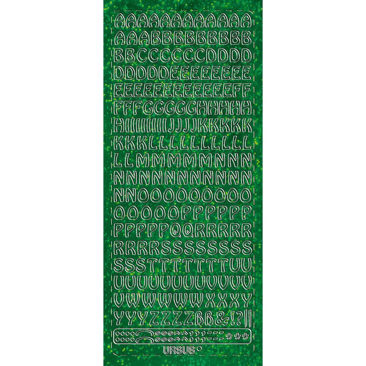 """Hologramm Sticker """"Buchstaben groß 1"""" grün"""