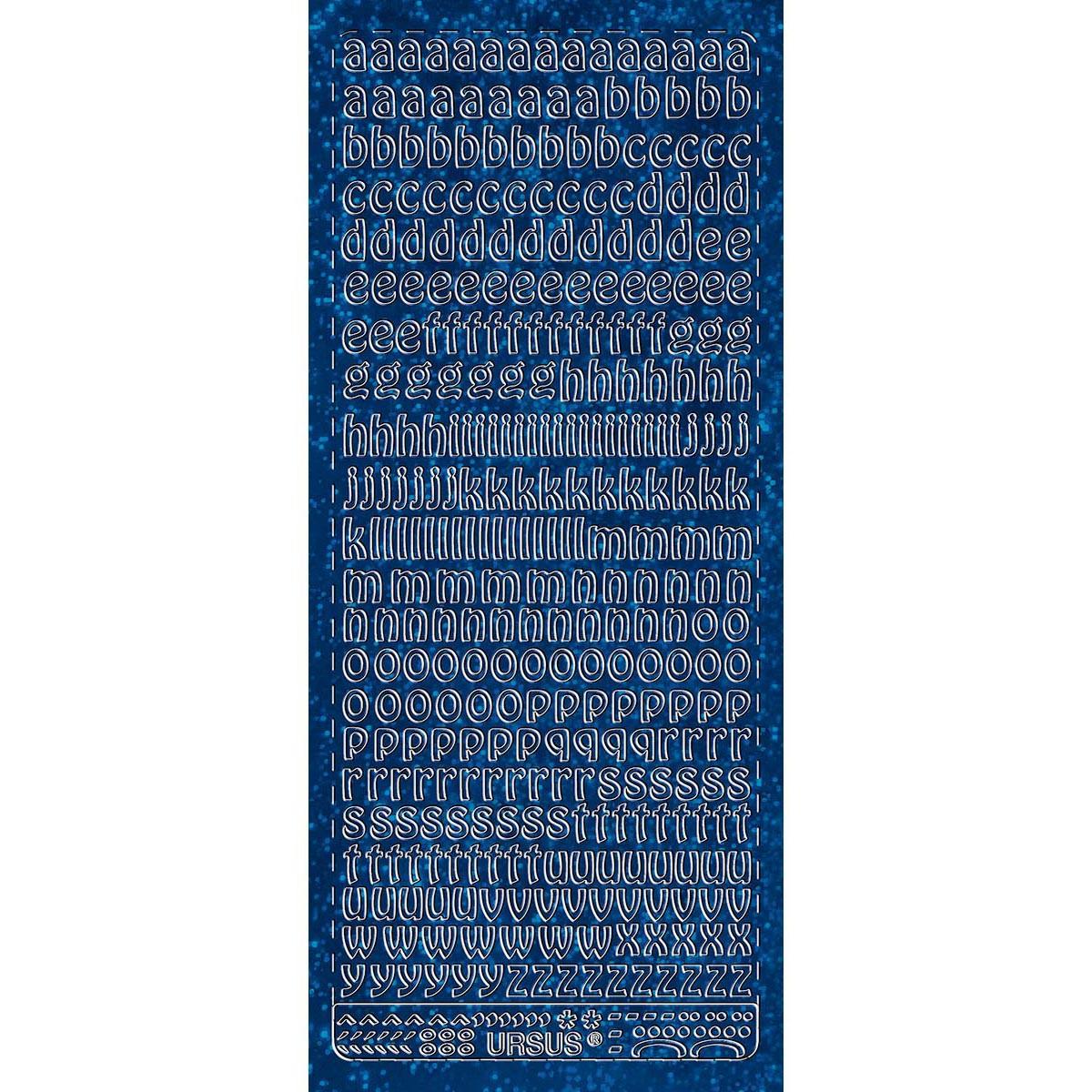 """Hologramm Sticker """"Buchstaben klein 1"""" blau"""