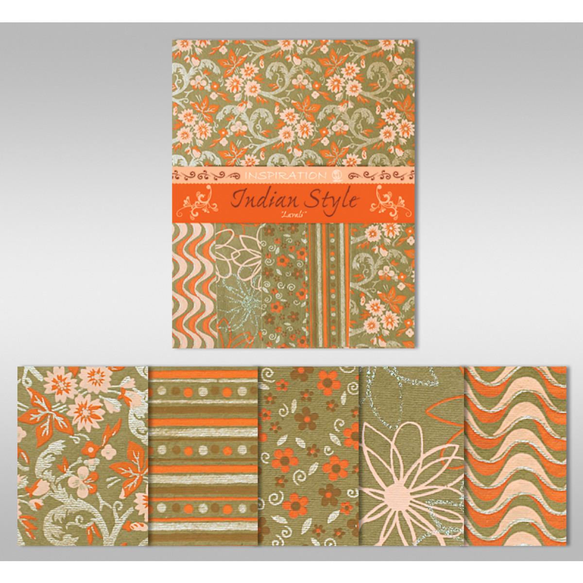 "Indian Style ""Lavali"" 21,6 x 28 cm - 5 Blatt sortiert"