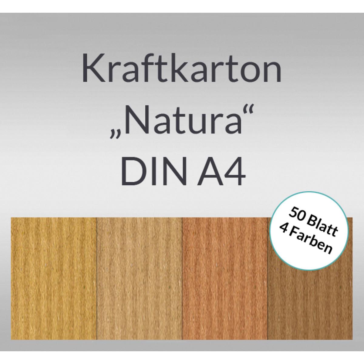 """Kraftkarton """"Natura"""" DIN A4 - 50 Blatt sortiert"""