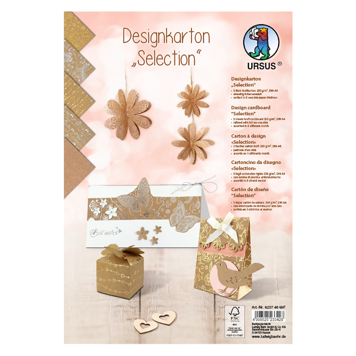 Kraftkarton Selection DIN 4 - 5 Blatt sortiert