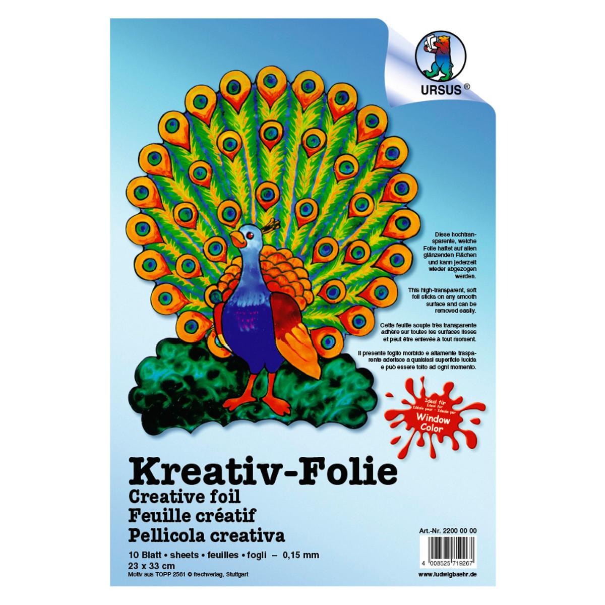 Kreativ-Folie 33 x 46 cm - 10 Blatt