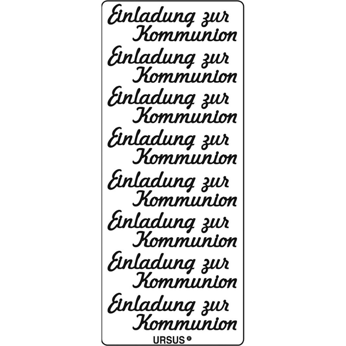 Kreativ Sticker Einladung Zur Kommunion Gold