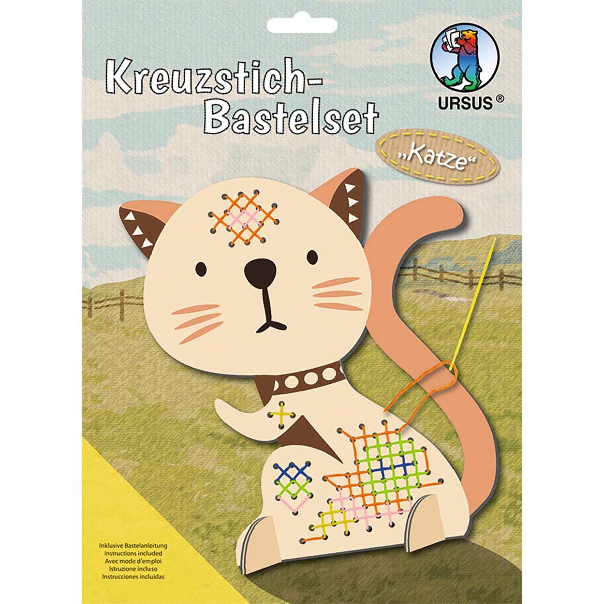Kreuzstich-Bastelset Katze