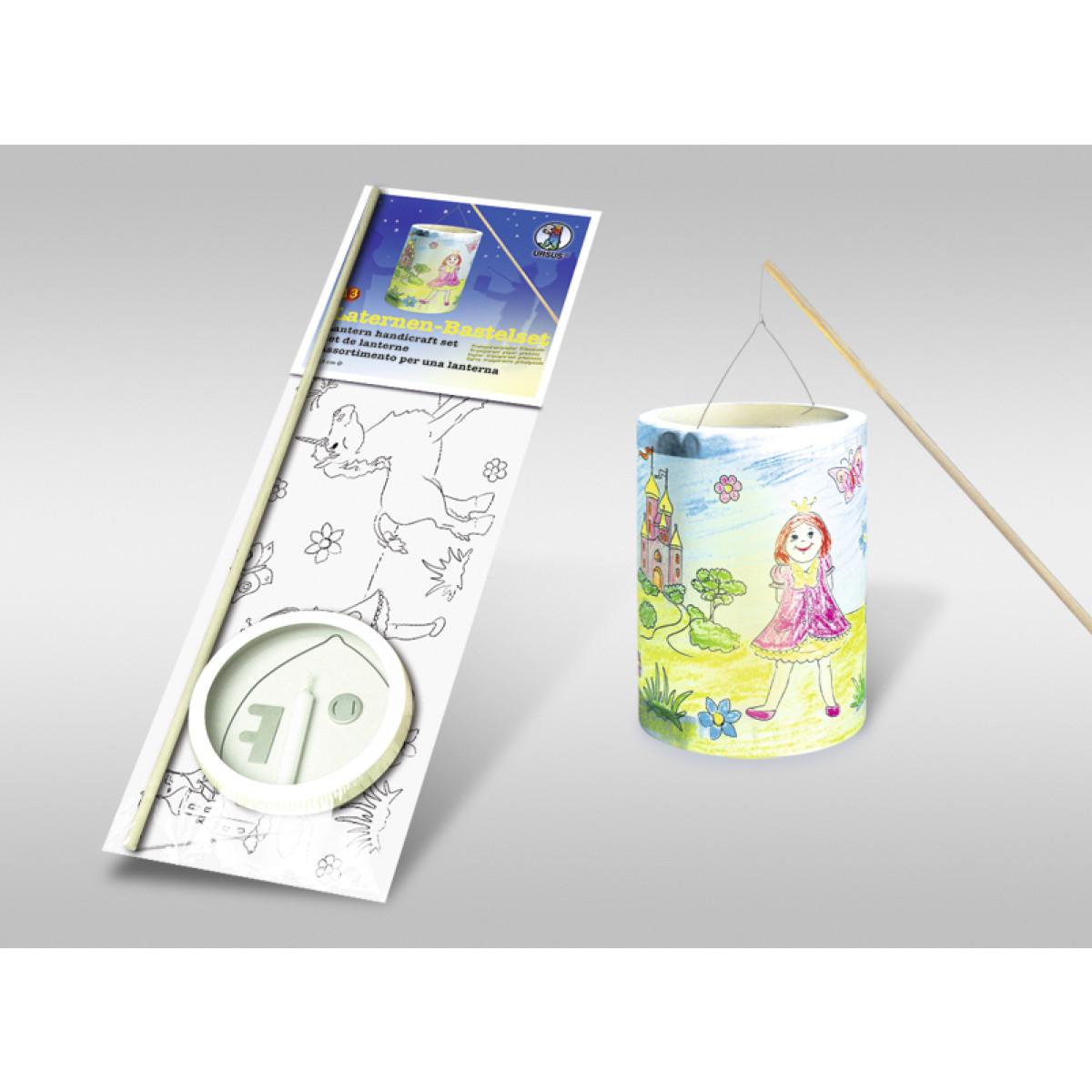 laternenbastelset 13 mit transparentpapier zum ausmalen