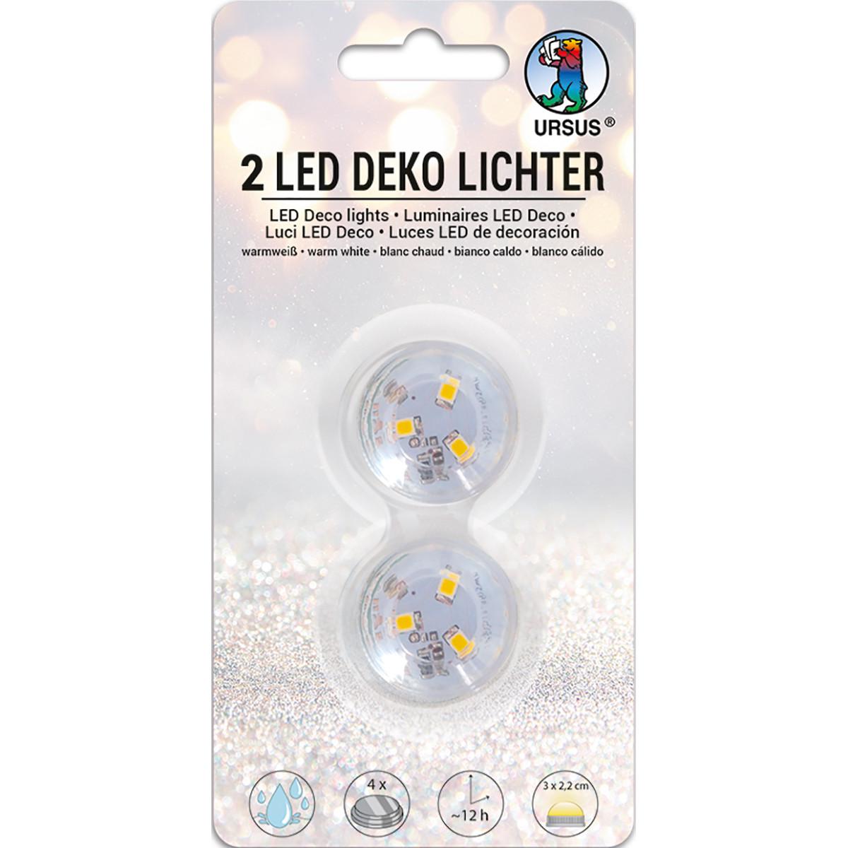 LED Deko Licht 2er Set warmweiß
