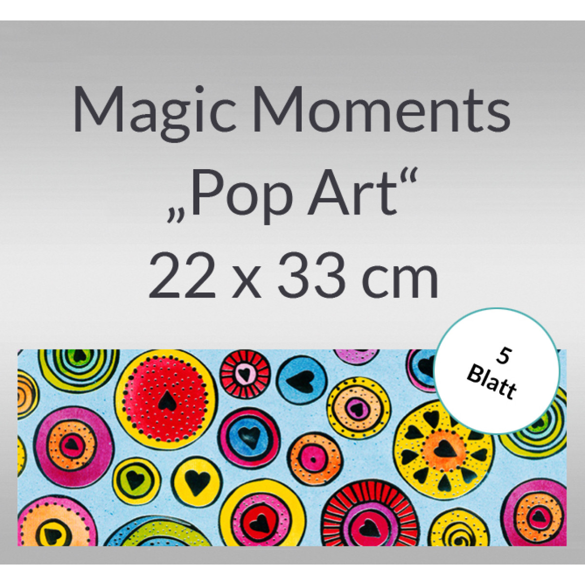 "Magic Moments ""Pop Art"" 22 x 33 cm - 5 Blatt"