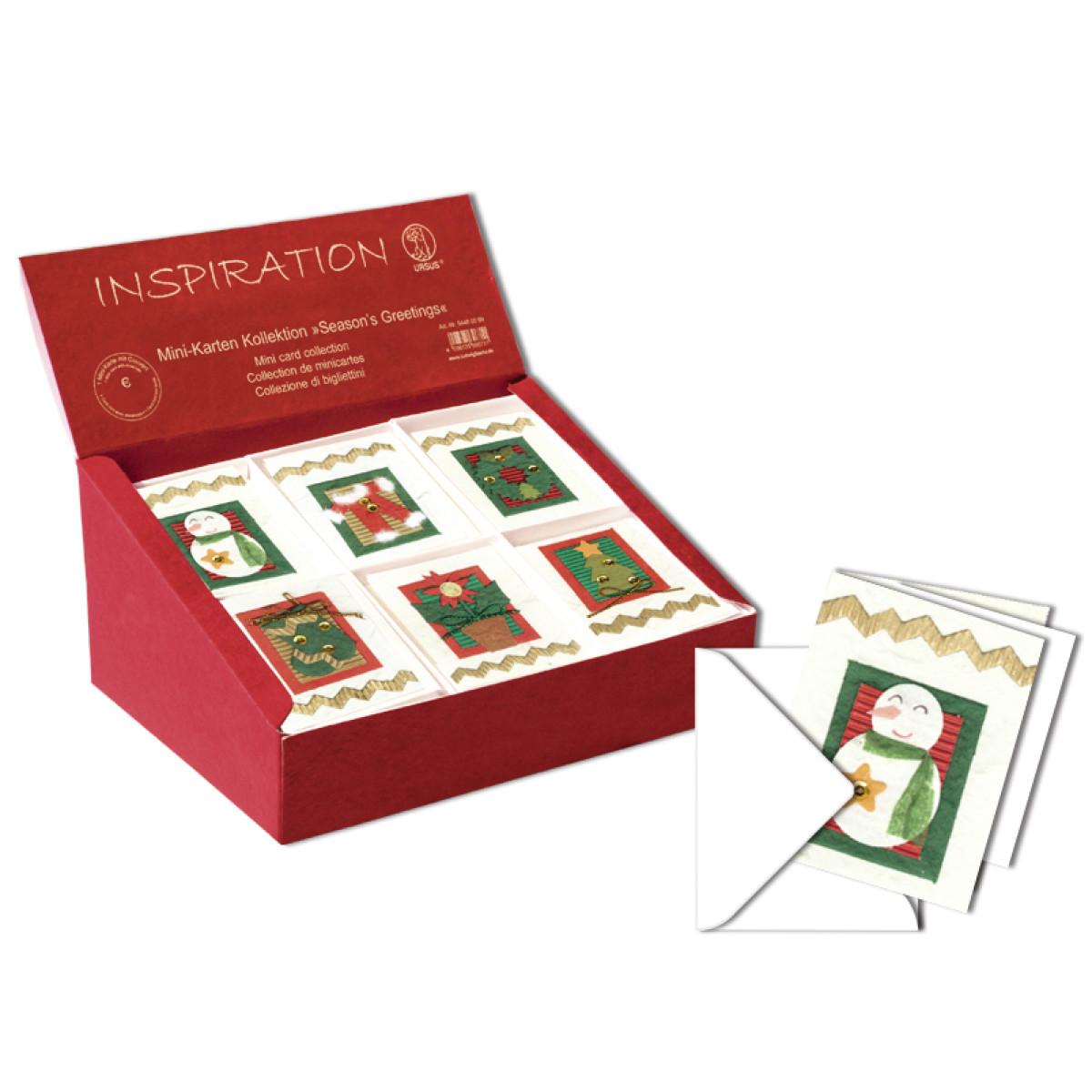 "Mini-Karten Kollektion ""Season's Greetings"""