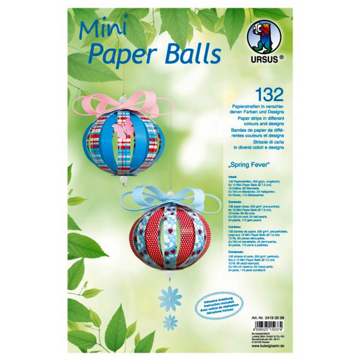 "Mini Paper Balls ""Spring Fever"""