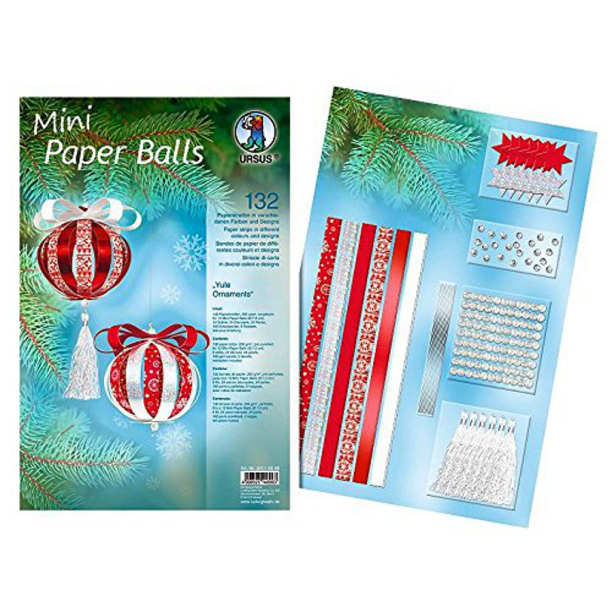 "Mini Paper Balls ""Yule Ornaments"""