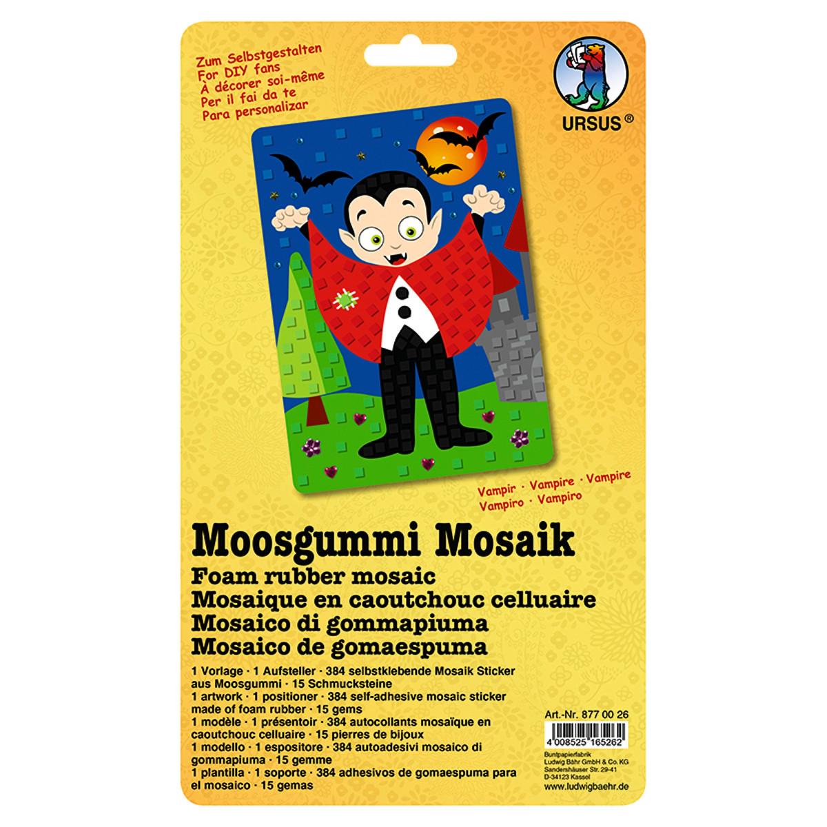 """Moosgummi Mosaik """"Vampir"""""""