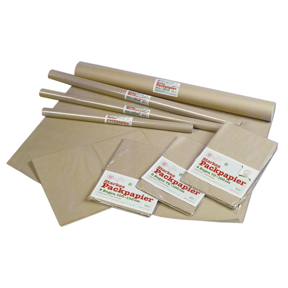 Packpapier 85 g/qm 70 x 100 cm - 2 Bogen