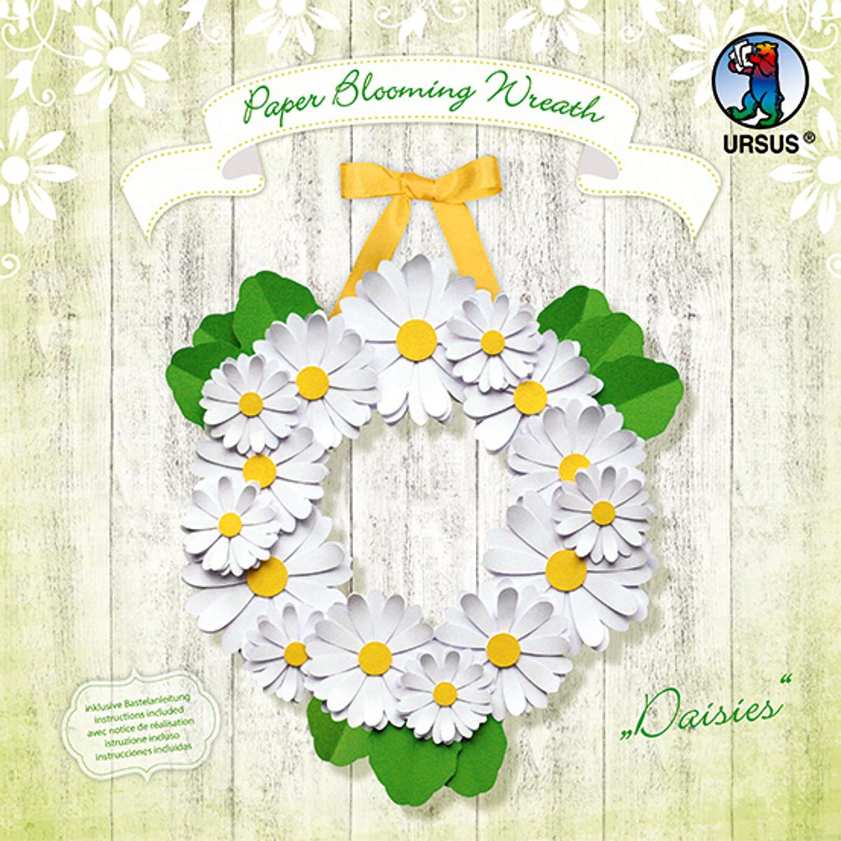 "Paper Blooming Wreath ""Daisies"""
