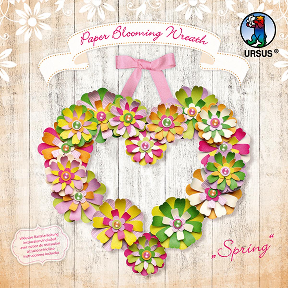 "Paper Blooming Wreath ""Spring"""