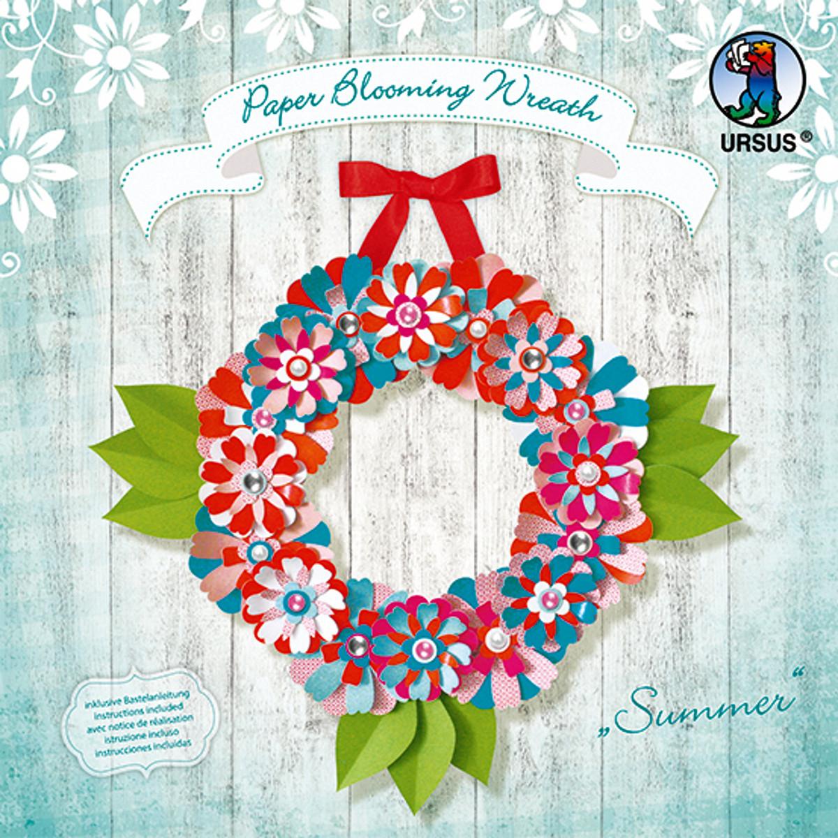 "Paper Blooming Wreath ""Summer"""