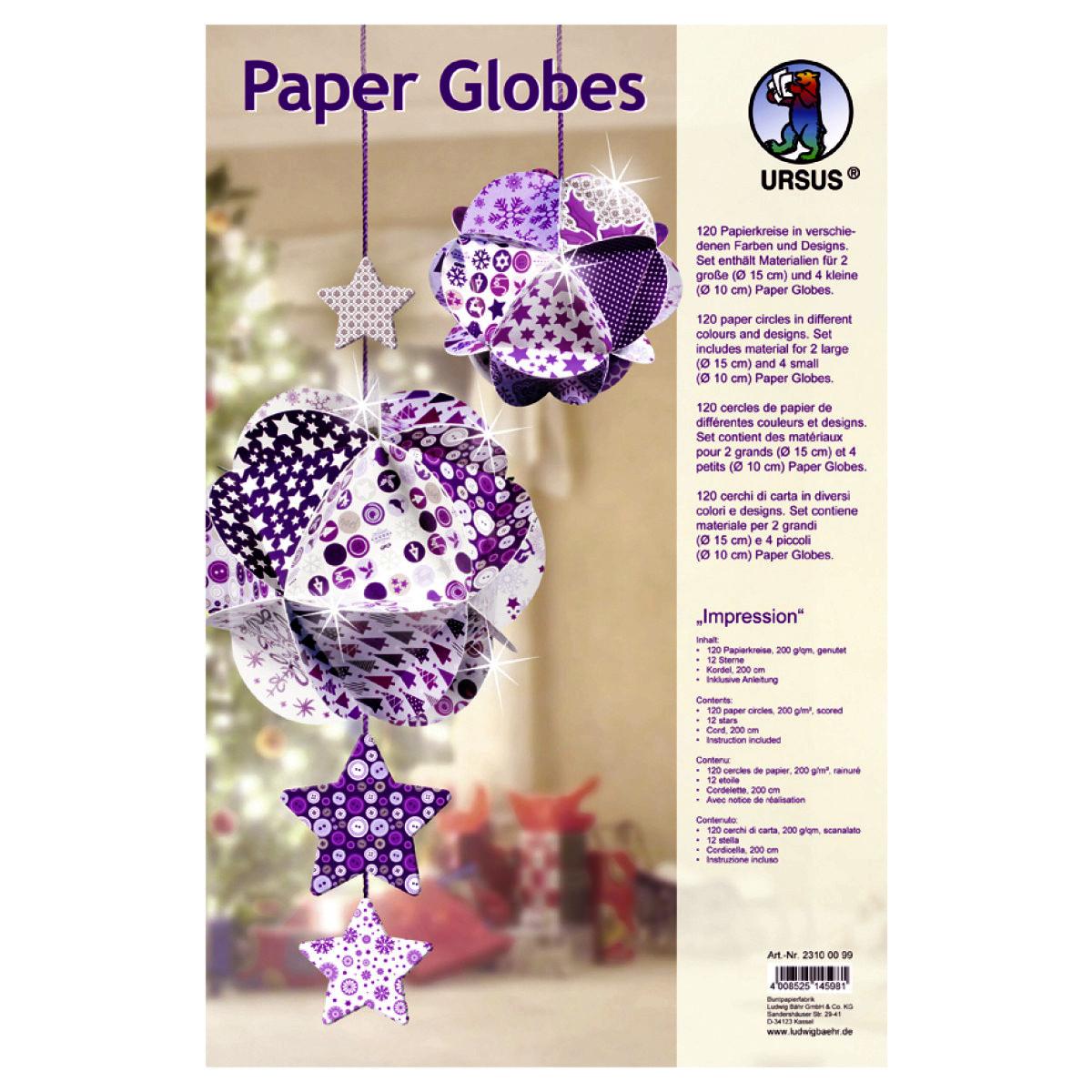 "Paper Globes ""Impression"""